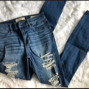 Pacsun ripped blue jeans